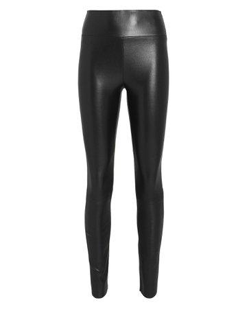 High-Rise Leather Leggings