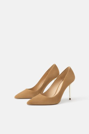LEATHER SHOES WITH METAL HEELS-View all-SHOES-WOMAN | ZARA United Kingdom