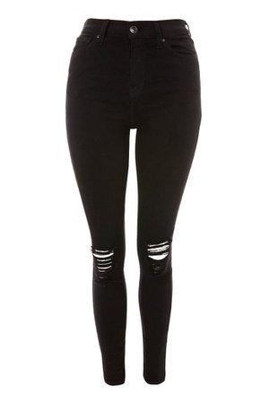 Black Ripped Jamie Skinny Jeans | Topshop