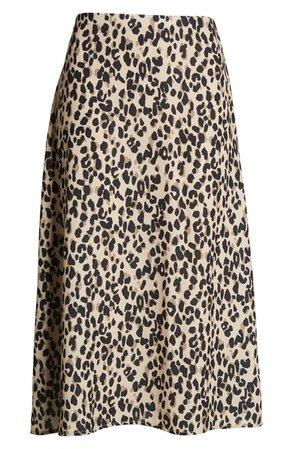 Halogen® Midi Skirt camel