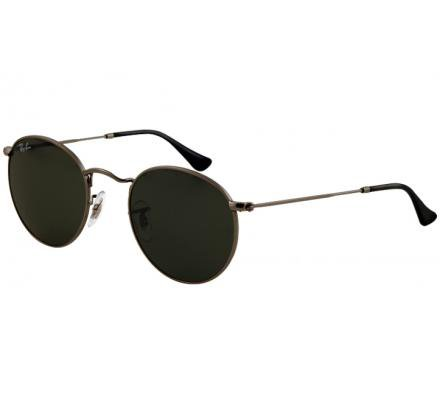 Sunglasses - Ray-Ban ROUND METAL 50-21 RB3447 029 Matte Gunmetal - buy online at lensvision.ch
