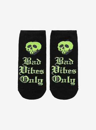 Disney Villains Poison Apple Bad Vibes No-Show Socks