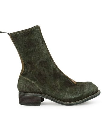 Guidi Front-Zip 40Mm Ankle Boots PL2 Green | Farfetch