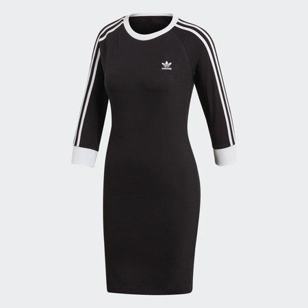 Vestido 3 bandas - Negro adidas   adidas España