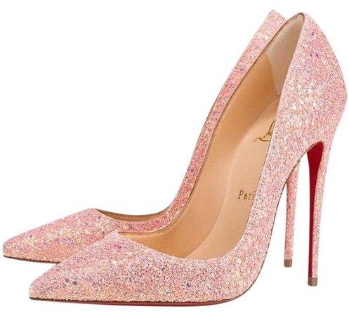 Christian Louboutin Pink So Kate 120 Pompadour Glitter Dragonfly Heel Pumps Size EU 36.5 (Approx. US 6.5) Regular (M, B) - Tradesy