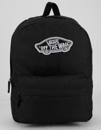 VANS Realm Solid Black Backpack - BLACK - VN0A3UI6BLK | Tillys