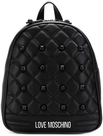 quilted studded backpack