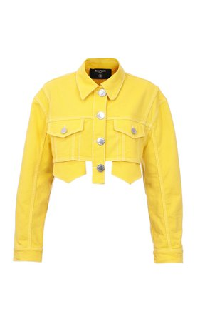 Cropped Denim Jacket by Balmain | Moda Operandi