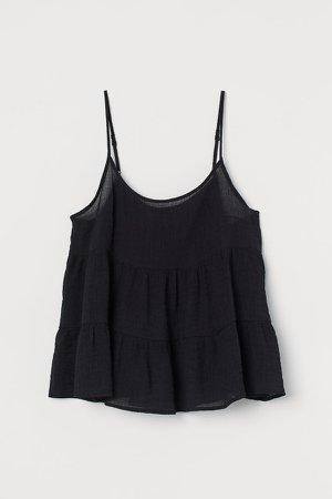 Voluminous Camisole Top - Black