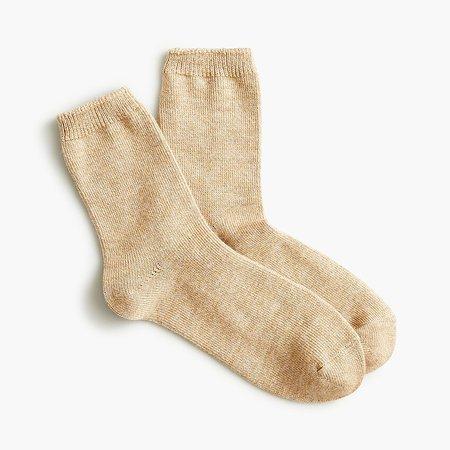 J.Crew: Ankle Boot Socks In Marled Wool Blend