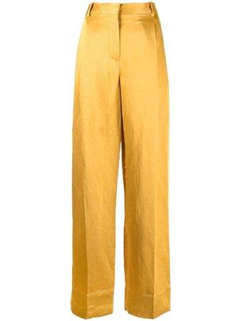 Sandro Paris high-waisted wide leg trousers - FARFETCH