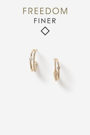 **Freedom Finer Crystal Hoop Earrings | Topshop