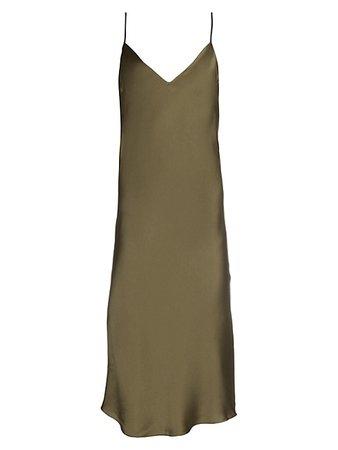 Dannijo Silk Midi Slip Dress on SALE | Saks OFF 5TH