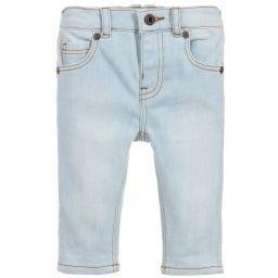 Burberry - Light Blue Denim Baby Jeans   Childrensalon