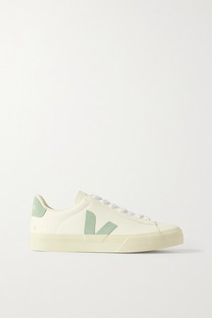 Net Sustain Campo Suede-trimmed Leather Sneakers - White