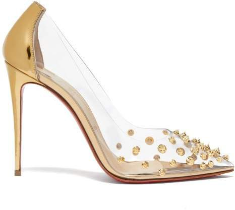 Collaclou 100 Spike Studded Pvc Pumps - Womens - Gold