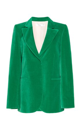 Single-Breasted Velvet Blazer by Victoria Beckham | Moda Operandi