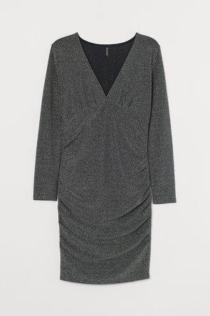 H&M+ Glittery Dress - Gray