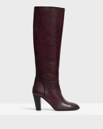 Leather Knee Boot | Theory