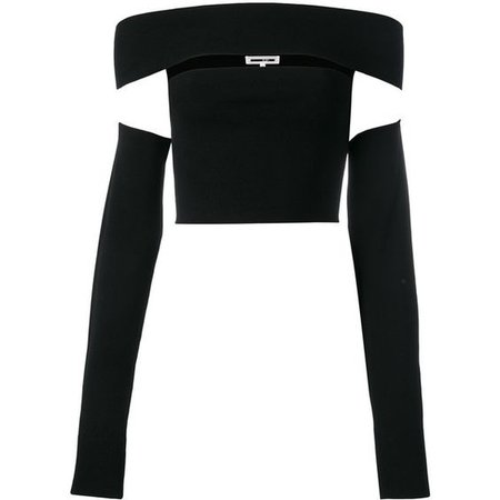 McQ Alexander McQueen cut-out cropped top