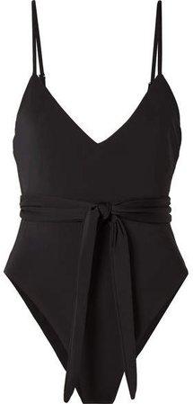 Gamela Belted Swimsuit - Black