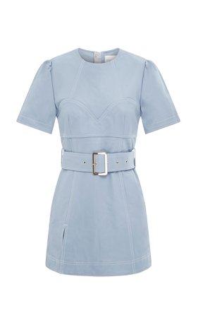 Alice McCall Incantations Lamb Leather Mini Dress