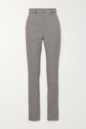 Gray Houndstooth wool-blend slim-leg pants | Magda Butrym | NET-A-PORTER