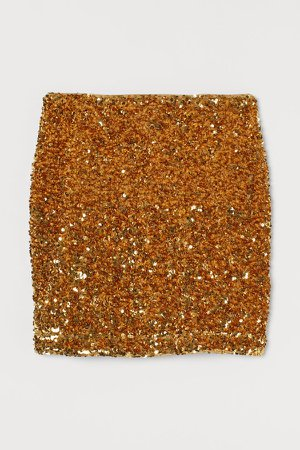 Sequined Skirt - Gold