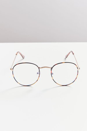 Taylor Blue Light Round Glasses | Urban Outfitters