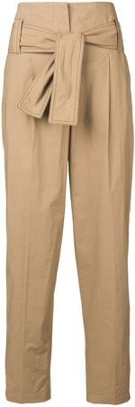 Dorothee tie detail high waisted trousers