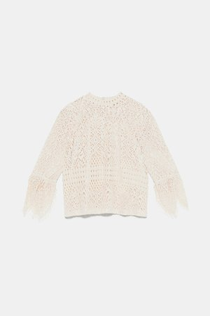 LACE TOP - View All-T-SHIRTS-WOMAN | ZARA Canada
