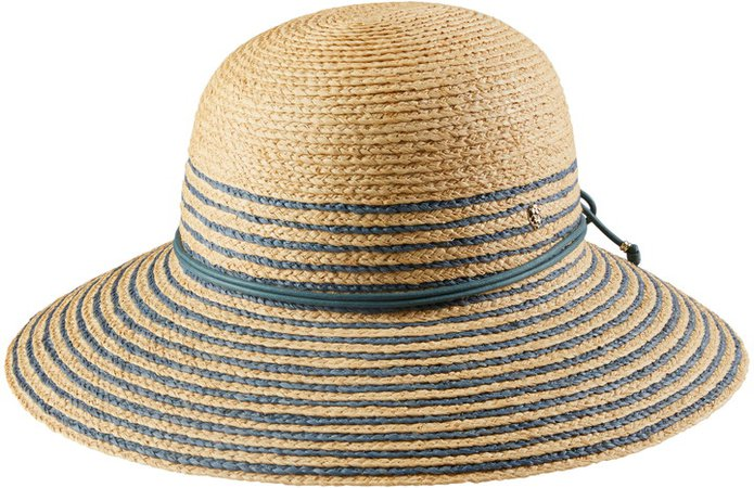 Riley Stripe Raffia Hat