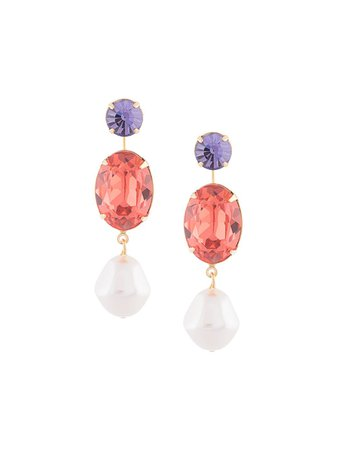 Jennifer Behr Meredith crystal-drop Earrings - Farfetch