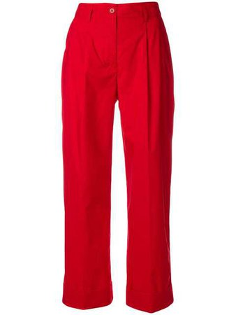 P.A.R.O.S.H. Cropped Straight Leg Trousers - Farfetch