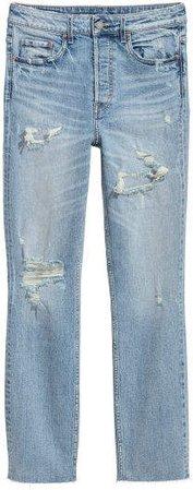 Vintage Slim High Jeans - Blue