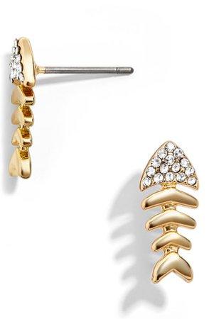 BaubleBar Bones Mini Fish Stud Earrings | Nordstrom