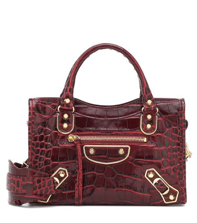5 Balenciaga - Classic City Mini croc-effect tote | Mytheresa