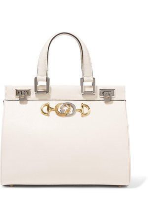 Gucci | Zumi small embellished textured-leather tote | NET-A-PORTER.COM