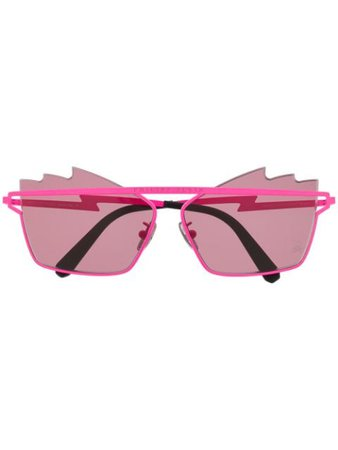 Philipp Plein Engraved Logo Sunglasses UES0072PTE003N Pink | Farfetch