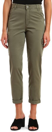 Denise Khaki Twill Cargo Pants