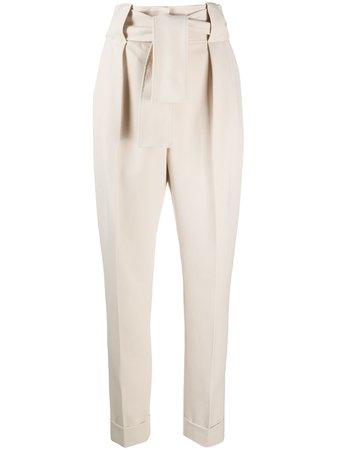 Sara Battaglia tie-waist Tapered Trousers - Farfetch