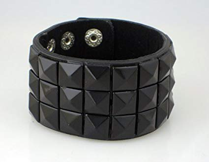 Amazon.com : Black Pyramid Stud Wristband 80s Gothic Punk Glam Emo : Sports Wristbands : Sports & Outdoors