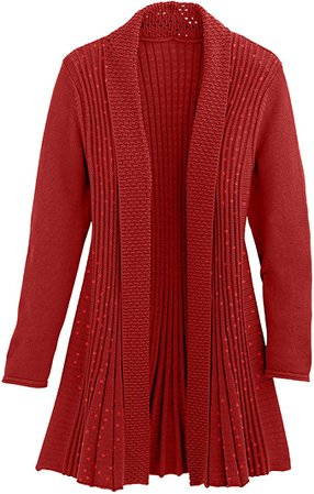 Cardigans for Women Long Sleeve Swingy Midweight Sequin Cardigan Sweater W/Pocket at Amazon Women's Clothing store
