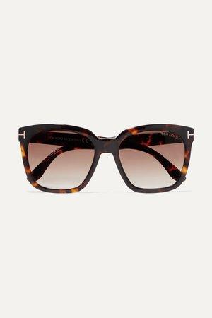 TOM FORD Amarra square-frame tortoiseshell acetate sunglasses