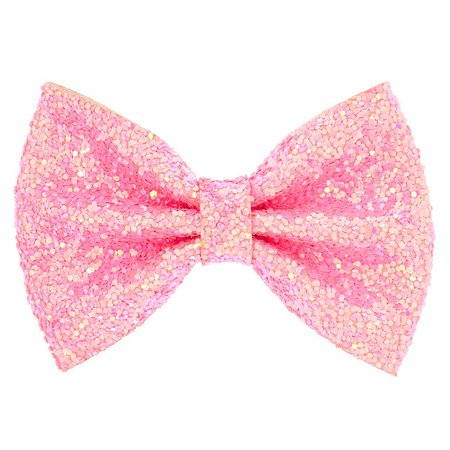 Pink Glitter Mini Hair Bow Claw | Claire's US