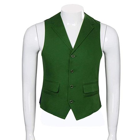Adult Mens Joker Costume Shirt Vest Tie Outfit Suit Set Fancy Dress up Knight Halloween Cosplay Props (Large, Suit): Amazon.co.uk: Clothing