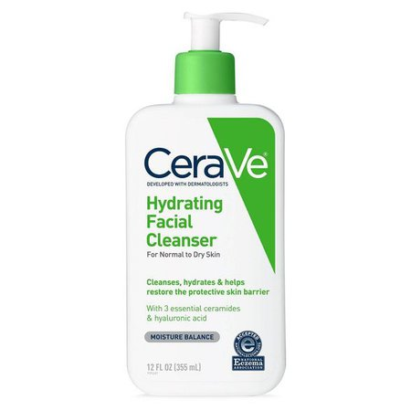 CeraVe Hydrating Facial Cleanser For Normal To Dry Skin Fragrance Free - 12oz : Target