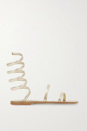Ofis Metallic Leather Sandals - Gold