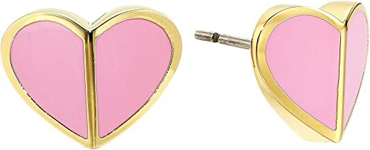 Kate Spade New York Heritage Spade Small Heart Studs Earrings Rococo Pink One Size