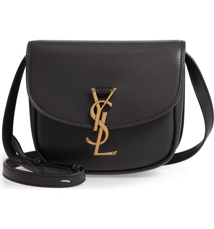 Saint Laurent Kaia YSL Monogram Leather Crossbody Bag | Nordstrom